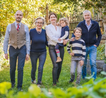 The family Herz guida l'hotel Braunsbergerhof