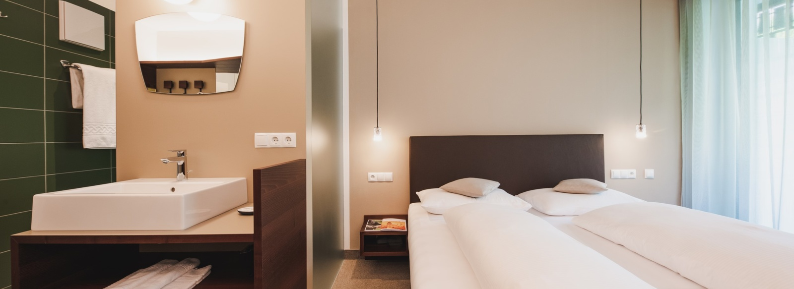 Le camere dell'Hotel Braunsbergerhof a Lana