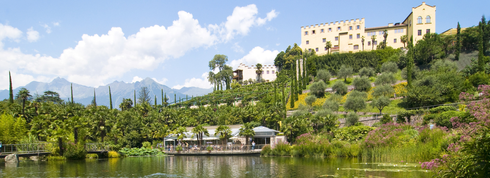 Visit the botanical gardens in Merano near Lana